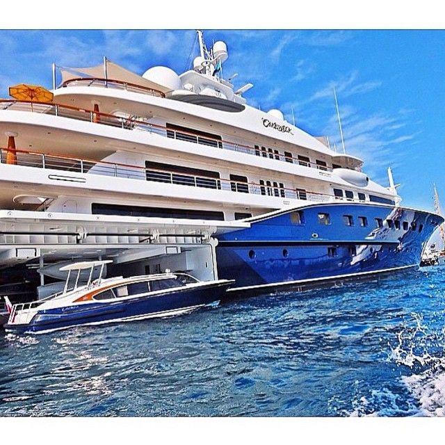 Mega Yacht 'CAKEWALK' & Tender Dockside in Monaco - Courtesy