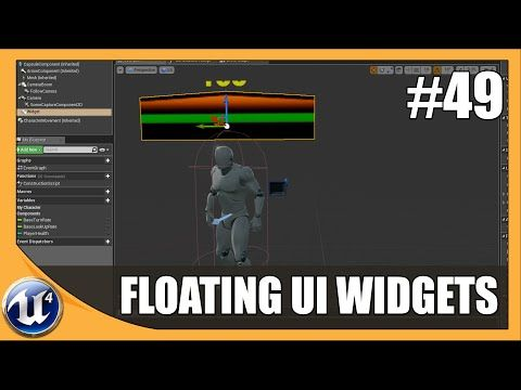 Floating UI Widget Component, UE4 | Unreal Engine in 2019