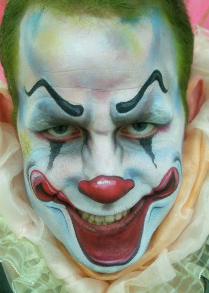 scary clown face paint evil clown make up halloween. Black Bedroom Furniture Sets. Home Design Ideas