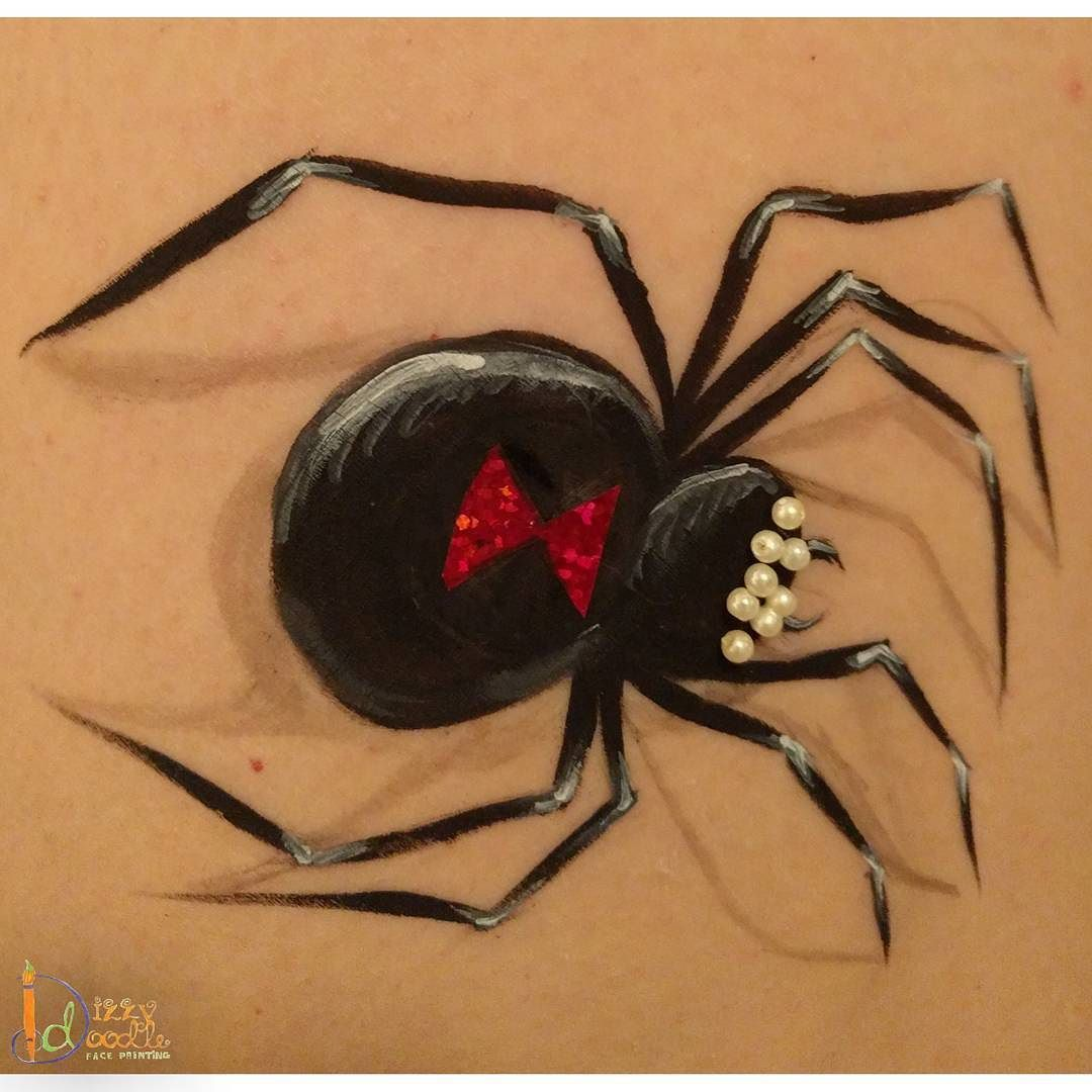 Black Widow With Bling Facepaint Facepainting Facepainter