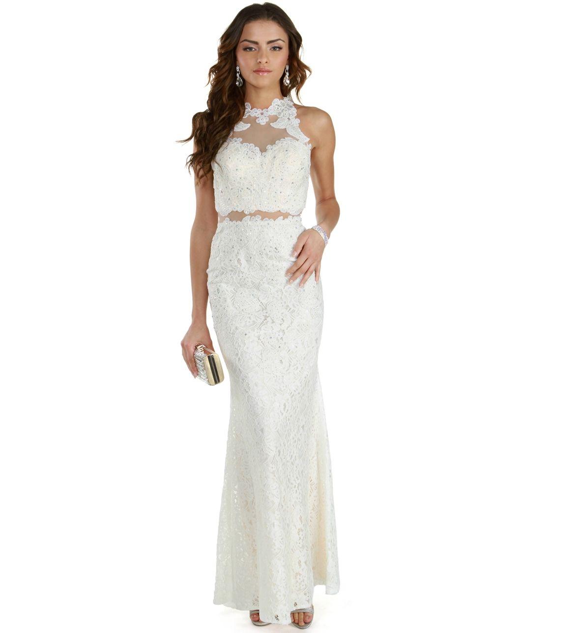 Promo Caroline Ivory Lace Prom Dress Lace Prom Dress High Neck Prom Dress Prom Dresses [ 1286 x 1180 Pixel ]
