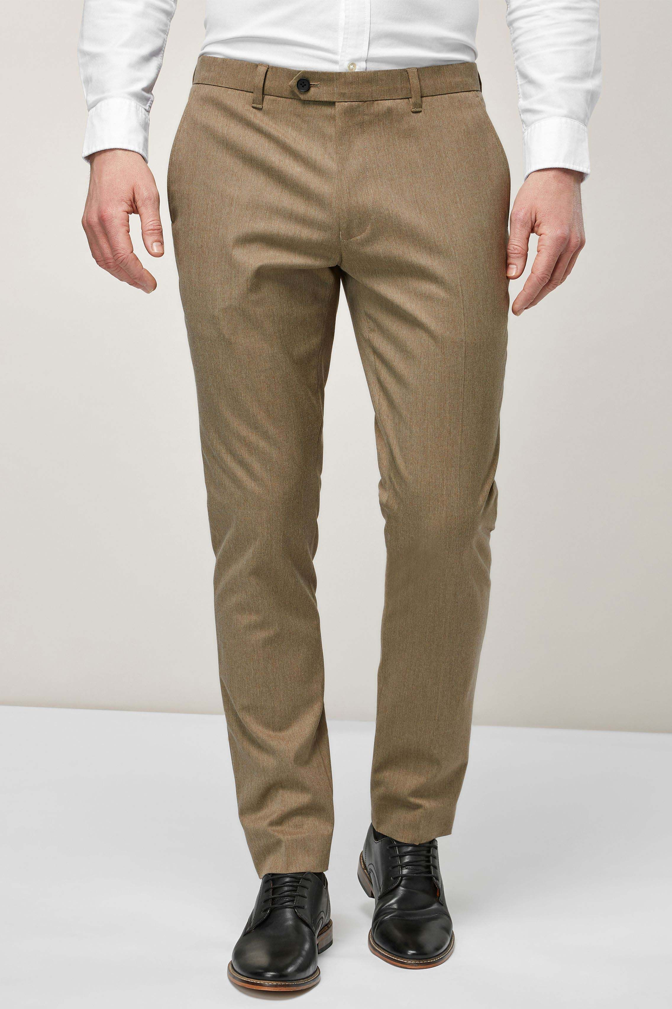 2ee367a8a Mens Next Navy Regular Fit Trousers With Stretch - Blue | Products ...