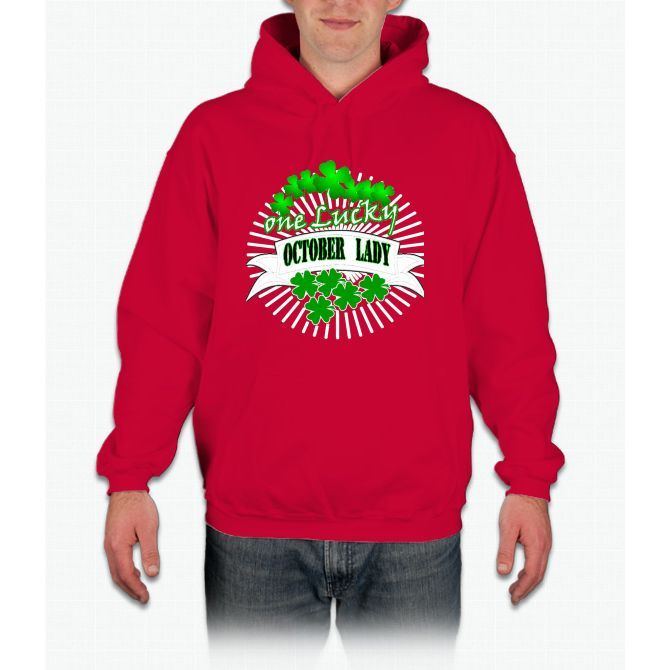 S`t Patrick`s Day One Lucky October Lady Hoodie
