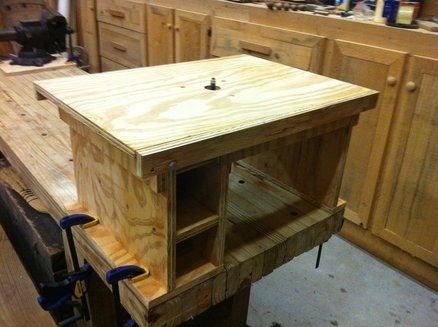 Flip top router table woodworking class project ideas flip top bench table plans free making the miter saw table even with the bench fig easy is anything ever perfect or capable of making everyone happy below greentooth Choice Image