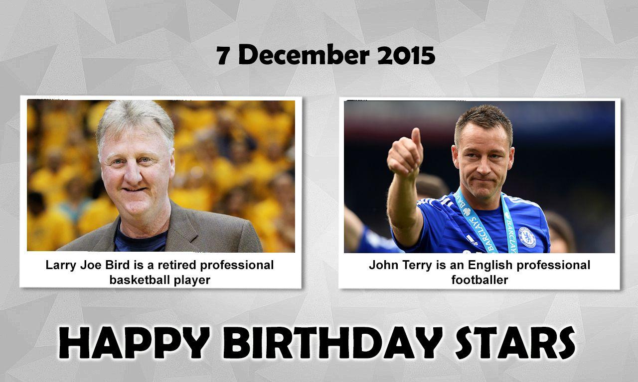 Happy Birthday Sports Stars LarryBird is an American
