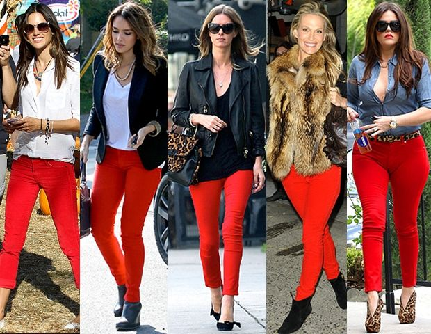 Red 3 Pantalon Rojo Mujer Pantalones Rojos Outfits Leggins