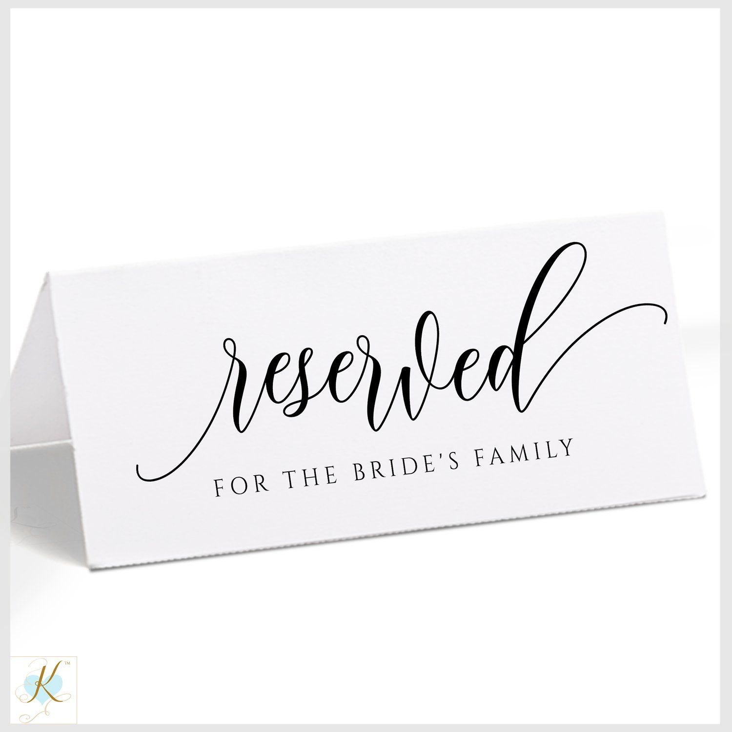 Printable Reserved Signs Editable Color Flair Calligraphy Tent Templett Pdf Reserved Signs Calligraphy Signs Wedding Calligraphy Signs