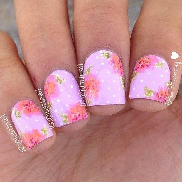 50 Flower Nail Designs For Spring Flower Nails Flower Nail