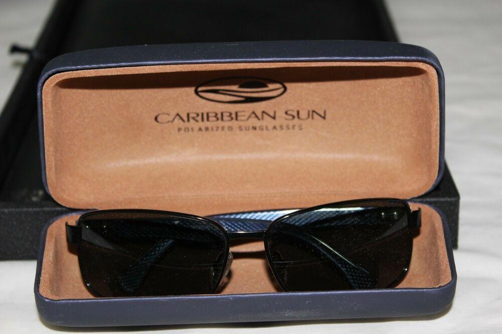 10cb49c79e Caribbean Sun CS058M 63-14-125 Sunglasses Black With Case  fashion  clothing