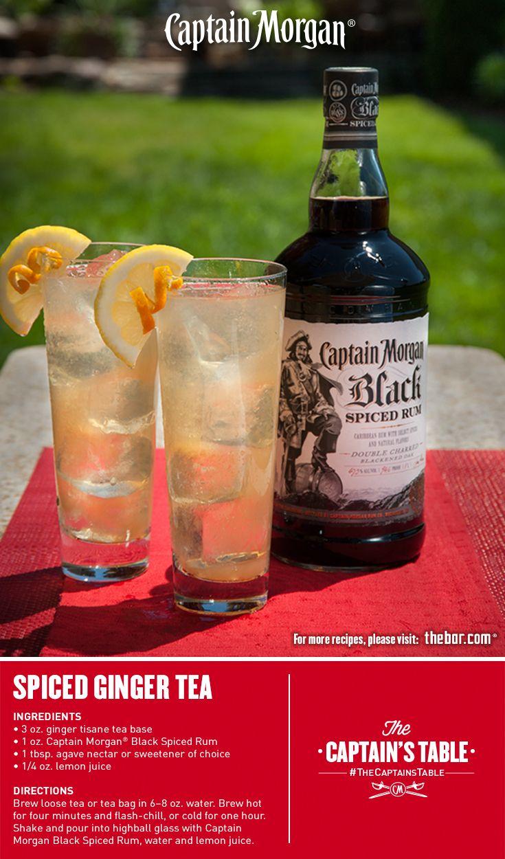 Spiced Ginger Tea Tea Cocktails Spiced Rum Drinks Spiced Rum