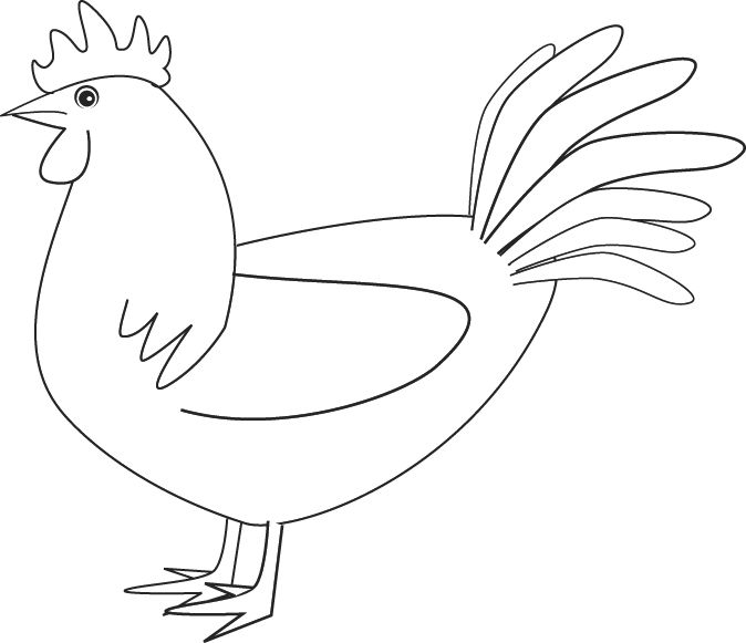 a rooster coloring page ready to be printed the drawbot also has many other coloring pages