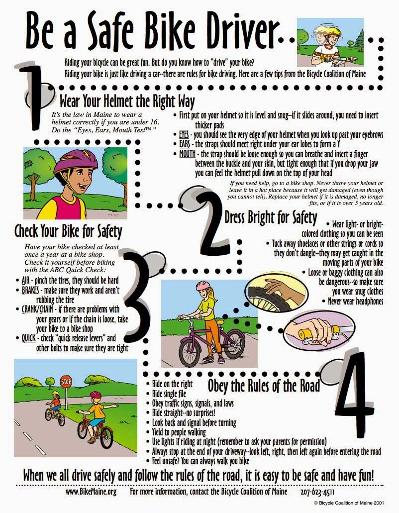 Practice Biking Safety With Images Bike Safety Activities