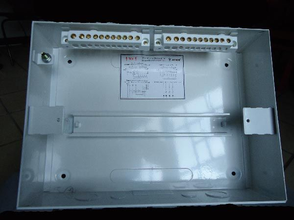 inside look of a single raw distribution board the two link