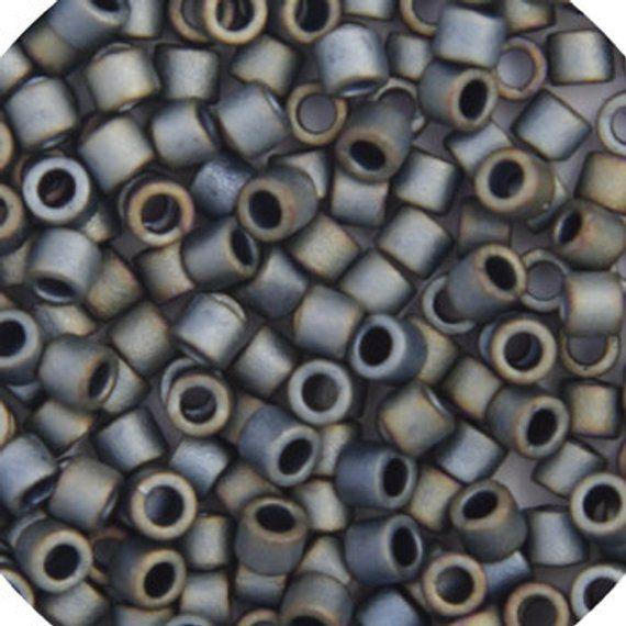 Round 3mm Black AB DBL0-5 10 Grams Japanese Miyuki Delica 8//0 Beads