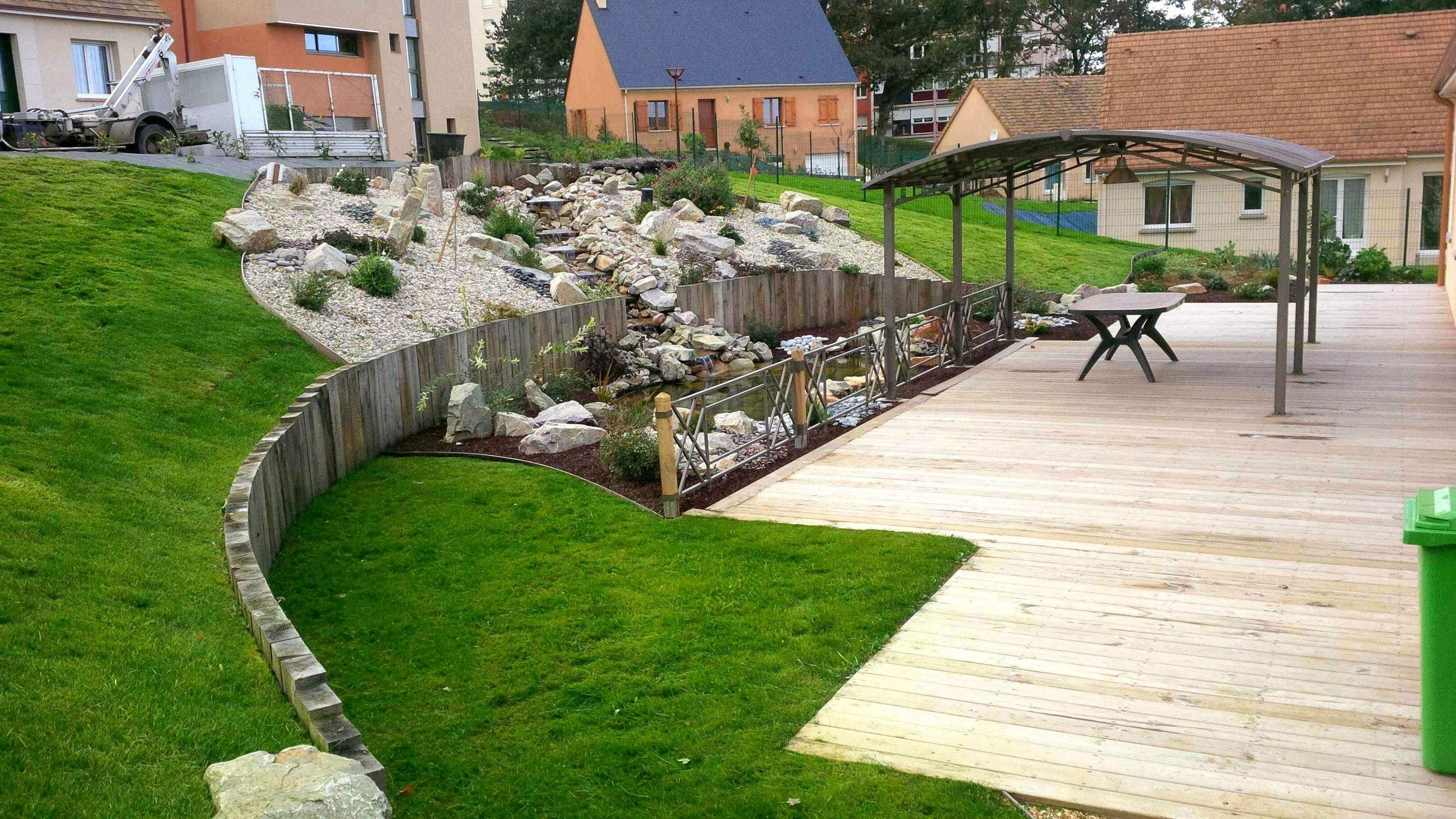 Deco Jardin Or Amenagement Jardin Amenagement Jardin En Pente