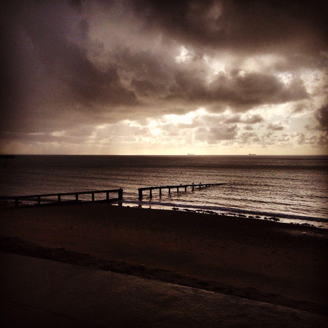 Stormy day at Lake beach