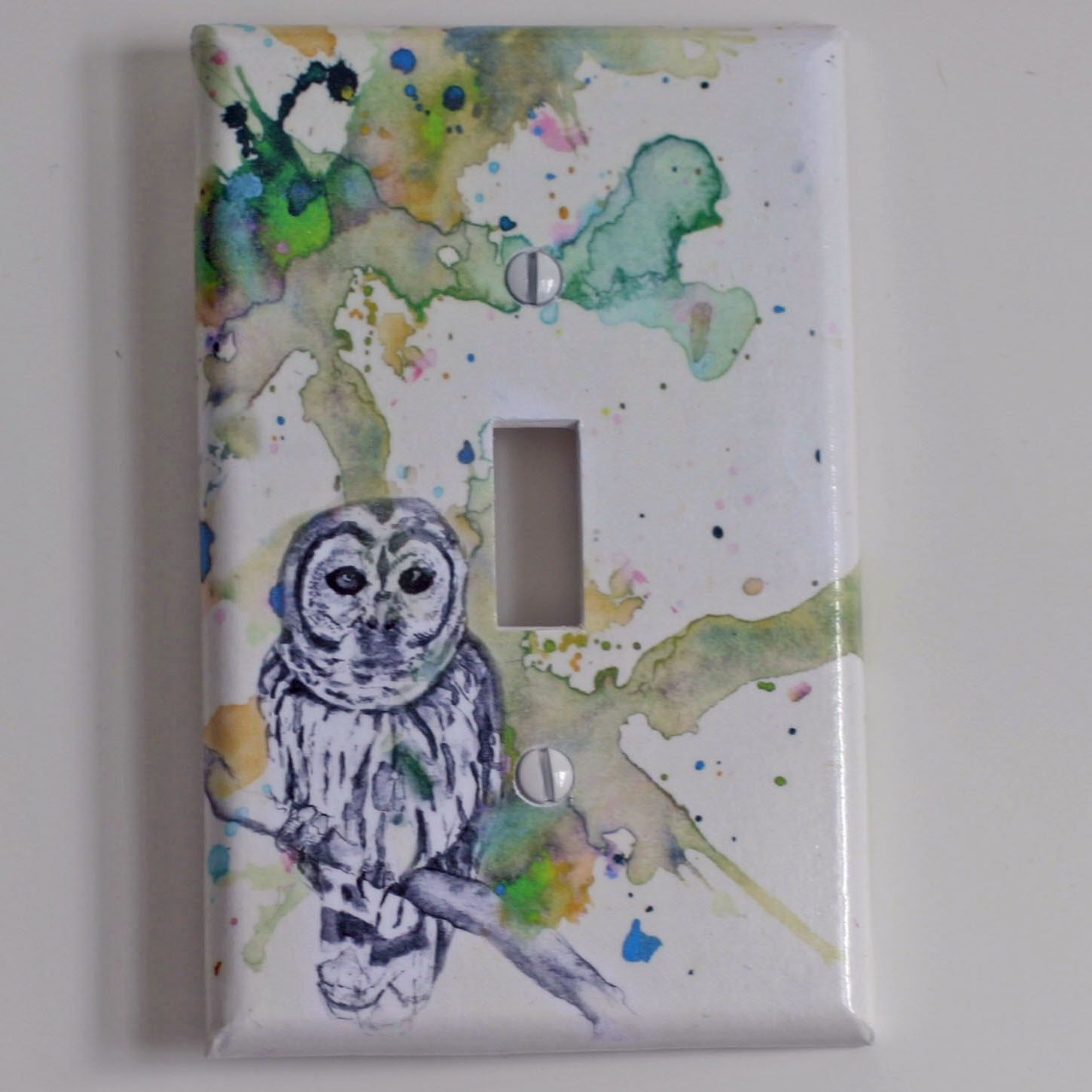 Owl Decor For Bathroom Owl Bird Art Decorative Light Switch Cover Great Owl Kids