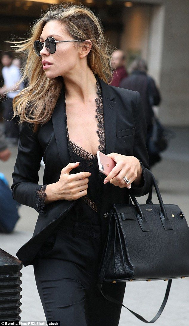 Abbey Clancy Looks Glamorous In Black Suit After Wisdom Tooth Agony