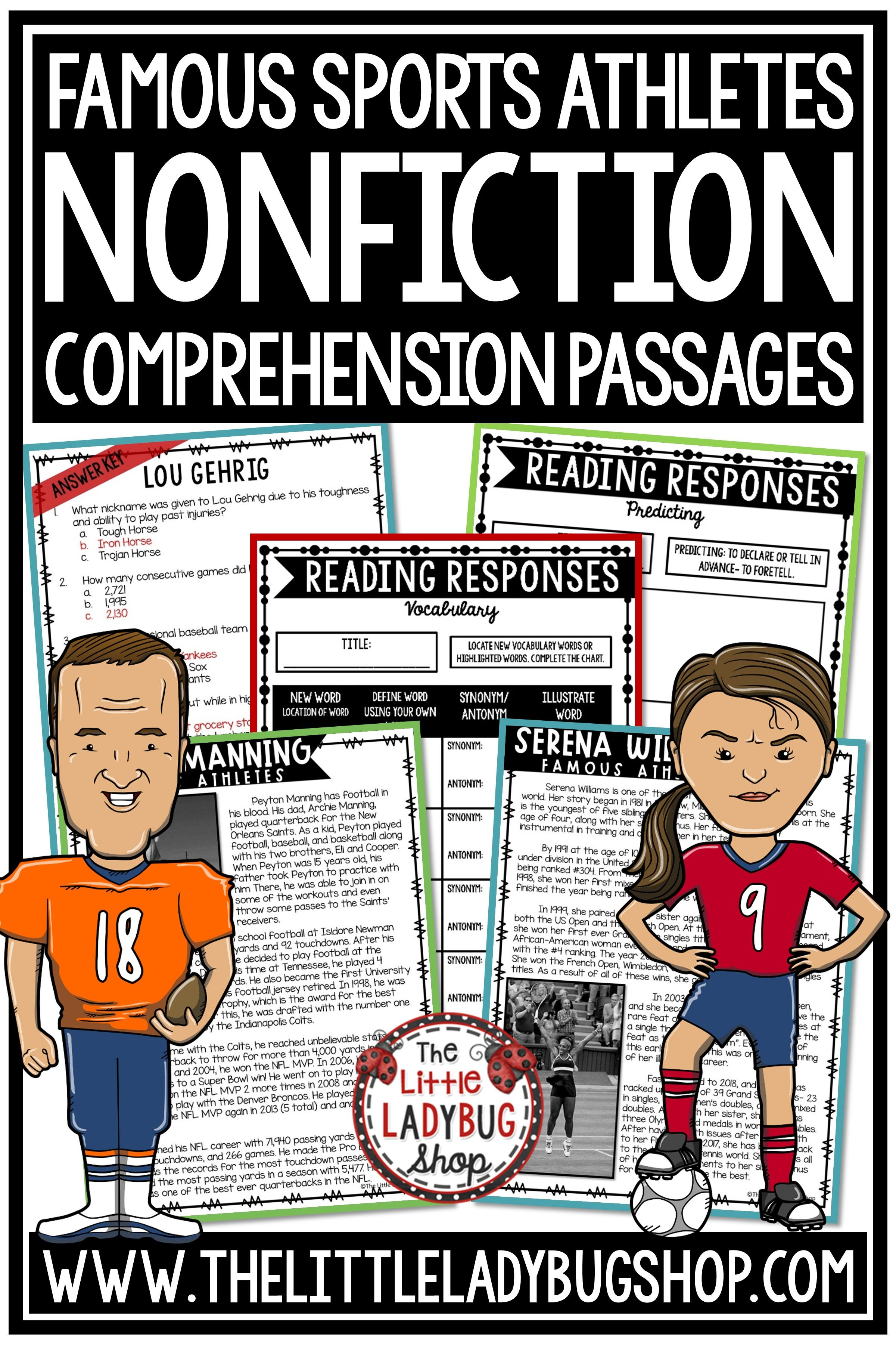 Sports Nonfiction Reading Comprehension 3rd Grade 4th