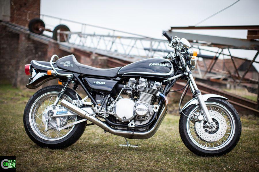 Custombikes Von Der Elbinsel Krautsand Handgefertigte Kawasaki Z 900 Cafe Racer Chopper Und