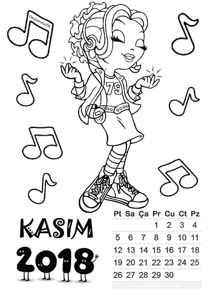 2018 Takvim Yapımı Kiz 2sinif Calendar Student Calendar Ve