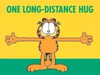 long distance hug quotes cute quote hug garfield long ...