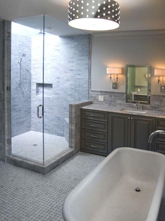 Vanity next to shower bathroom layout pinterest for Bathroom inspo