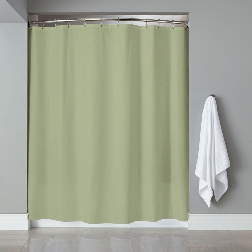 Sweet home collection solid color peva shower curtainliner
