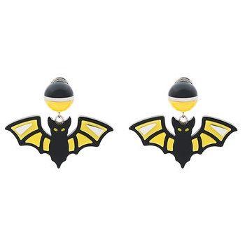 Prada Black and Yellow Bat Earrings u2nlo8jdo