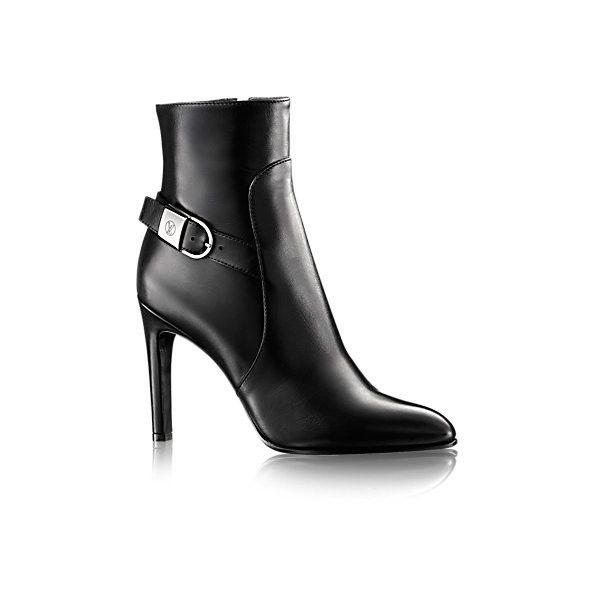 Aparte Ankle Boot ($1,490) ❤ liked on Polyvore featuring shoes, boots, ankle booties, buckle boots, high heel ankle boots, buckle booties, high heel booties and buckle ankle boots
