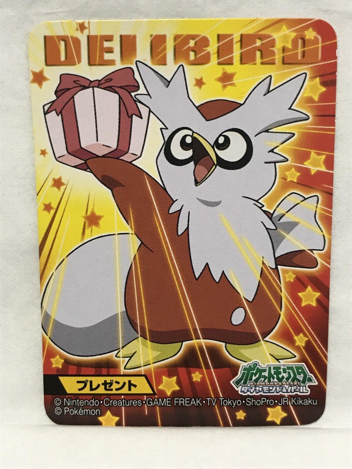 Delibird pokemon bandai card 2010 nintendo pocket monster