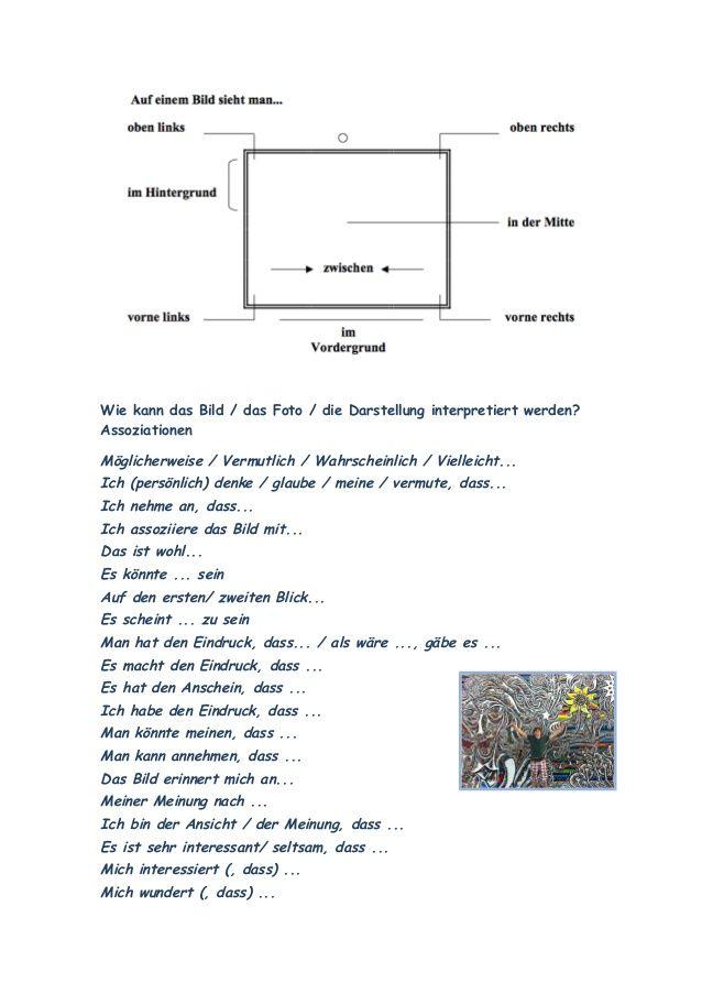 KUNST an der BERLINER MAUER - Redemittel zur Bildbeschreibung und ...