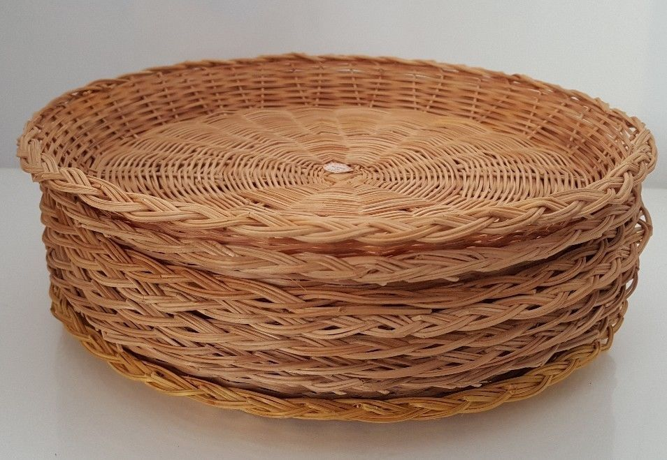 Vintage Party Lot of 8 Wicker Plate Holders Rattan Picnic (for 9  Paper Plates) | Plate holder vintage Party and Rattan & Vintage Party Lot of 8 Wicker Plate Holders Rattan Picnic (for 9 ...
