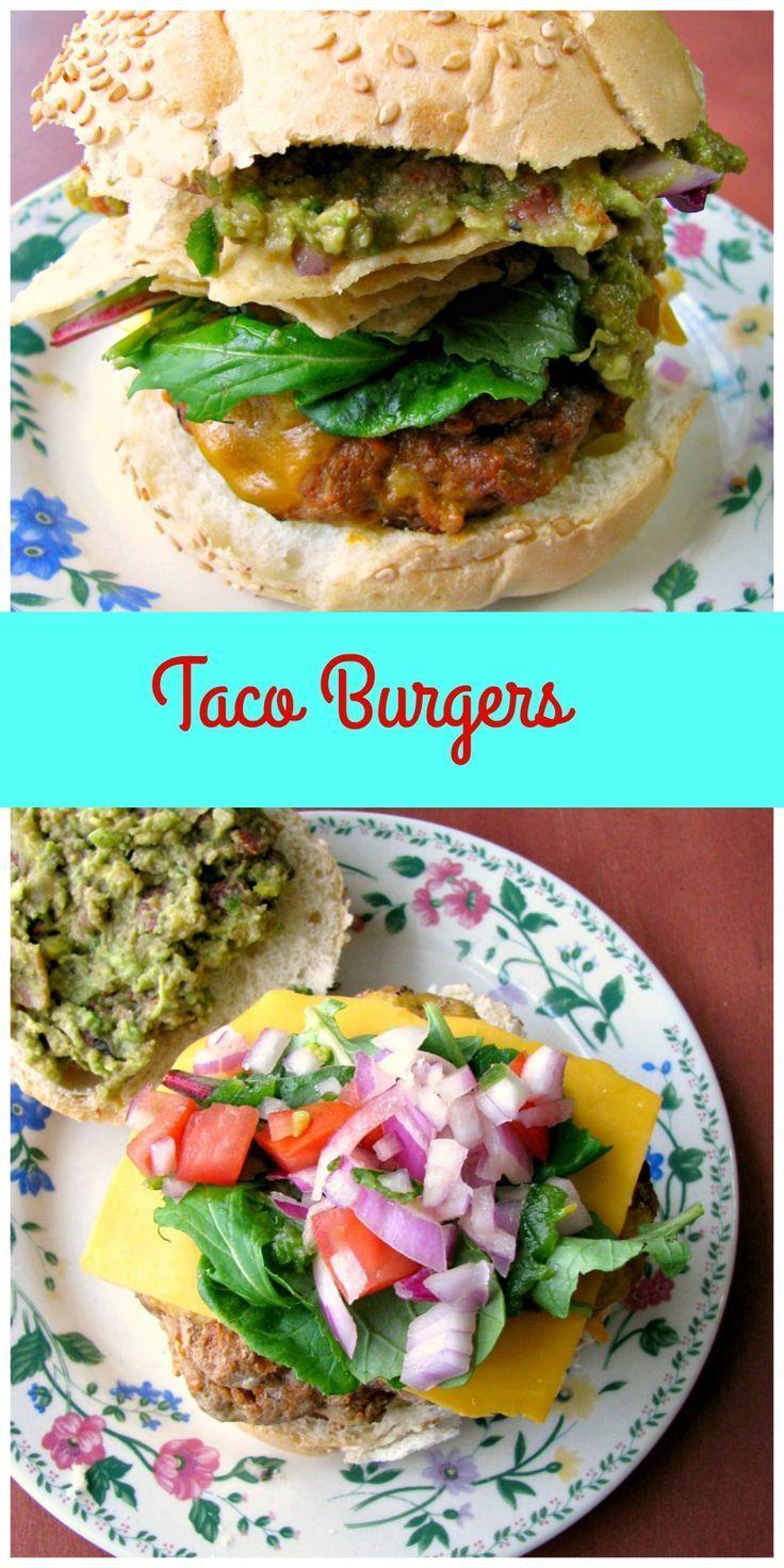 Taco Burgers | Recipe | Taco burger, Taco tuesday and Taco seasoning