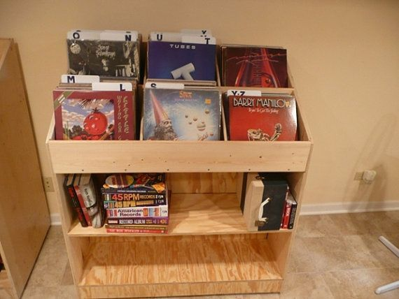 Delicieux Vinyl Record Album Storage Bin Triple By MountProspectRecords