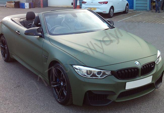 Bmw M4 Fully Vinyl Wrapped In A Matt Military Green Car Wrap Dream