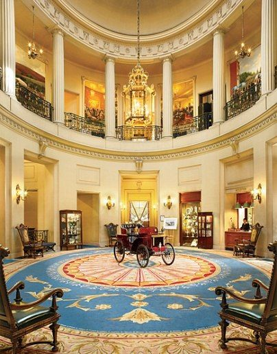 Interior Of The Royal Automobile Club, Pall Mall, London. The Club Was  Founded