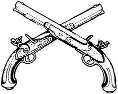 pirate flintlock pistol drawing tattoo tattoos Matchlock Pistol pirate flintlock pistol drawing
