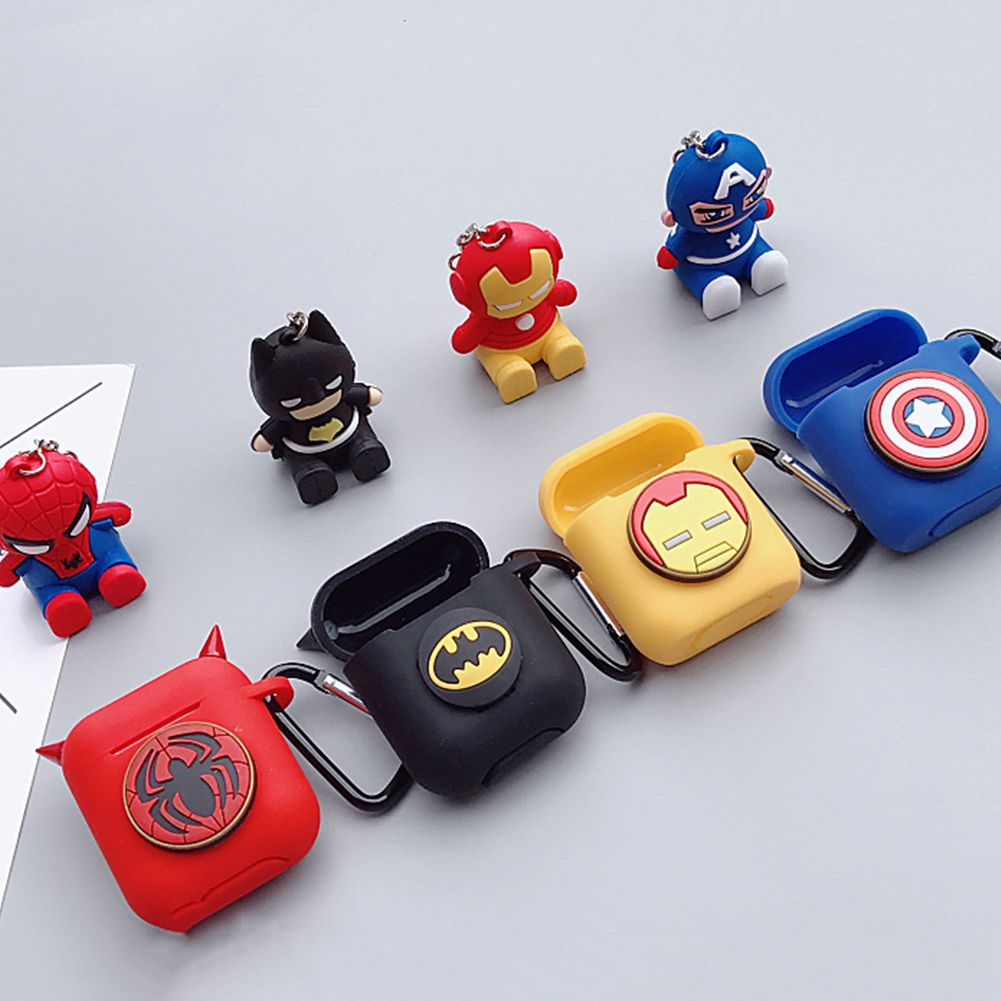 the best attitude d98e3 d38a8 2019 的 Avengers Batman Spider Man Airpods case Marvel iron Man ...
