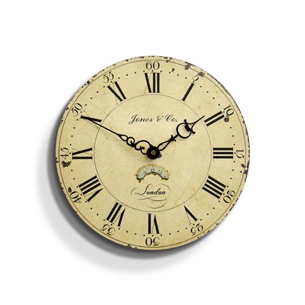 Columbus Wall Clock classic cream