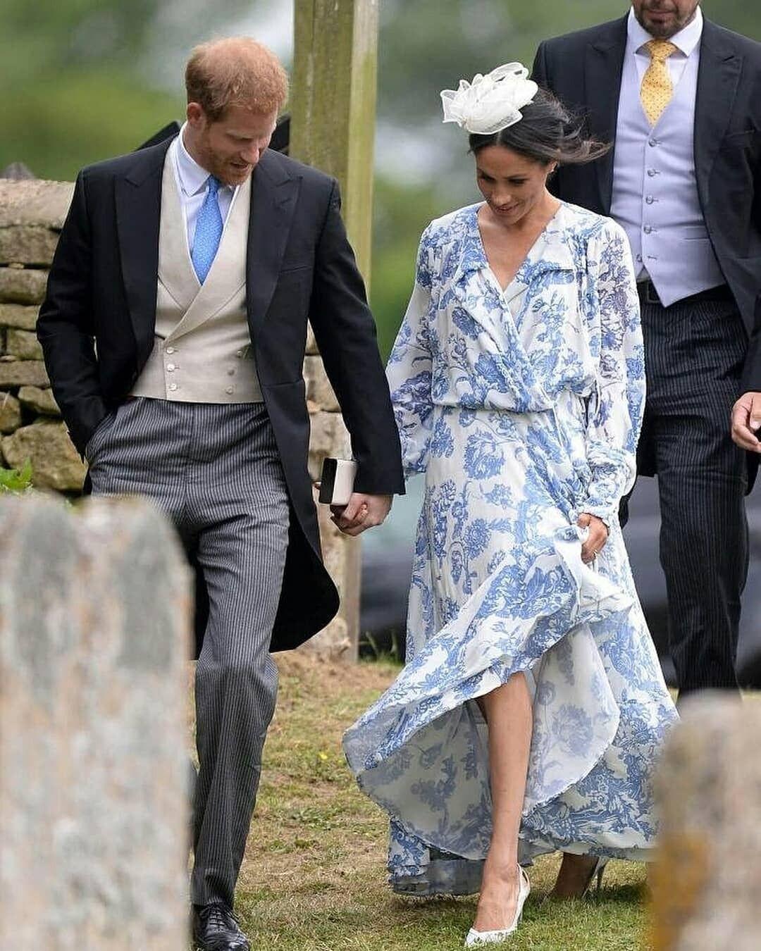 Harry And Meghan Attend His Cousin Celia Mccorquodale S Wedding Meghan Markle Hippie Look Meghan Markle Stil