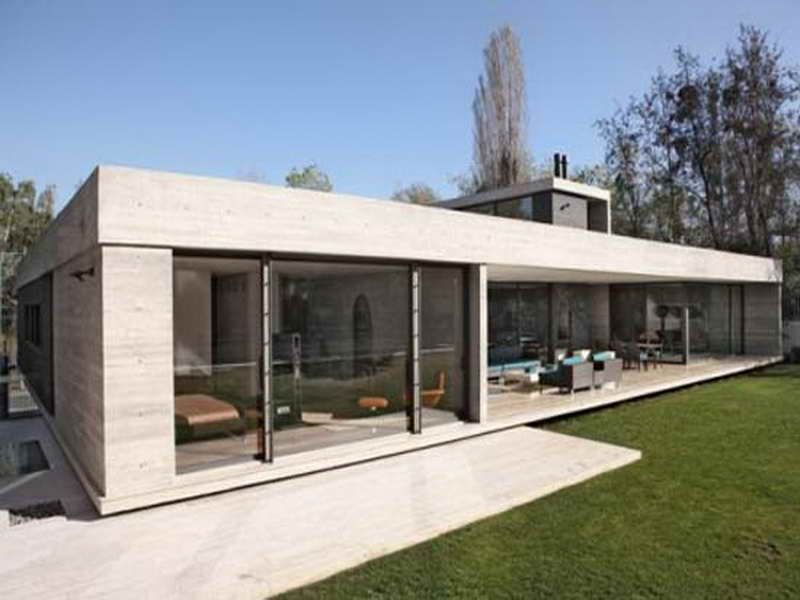 FIRM: LINE Architects; PROJECT: Piano House; LOCATION: Chisinau, Moldova.  Single Story Home Set On A Pavilion Of Glass, Concrete And Wood. The Bulu2026