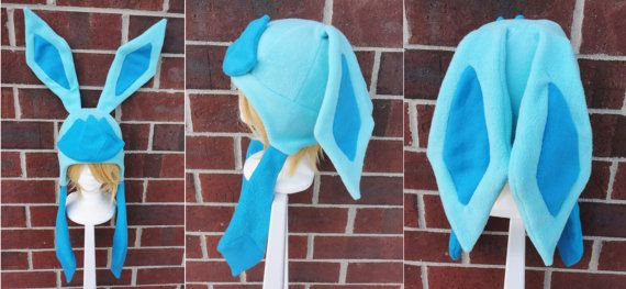 Glaceon Pokemon Hat  A winter nerdy geekery gift by Akiseo on Etsy, $35.00