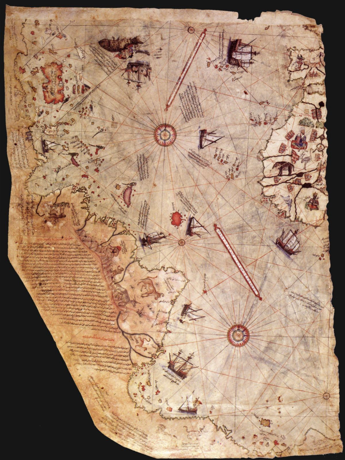 Does the Piri Reis map show the coast of Antartica? | Ancient Empire ...