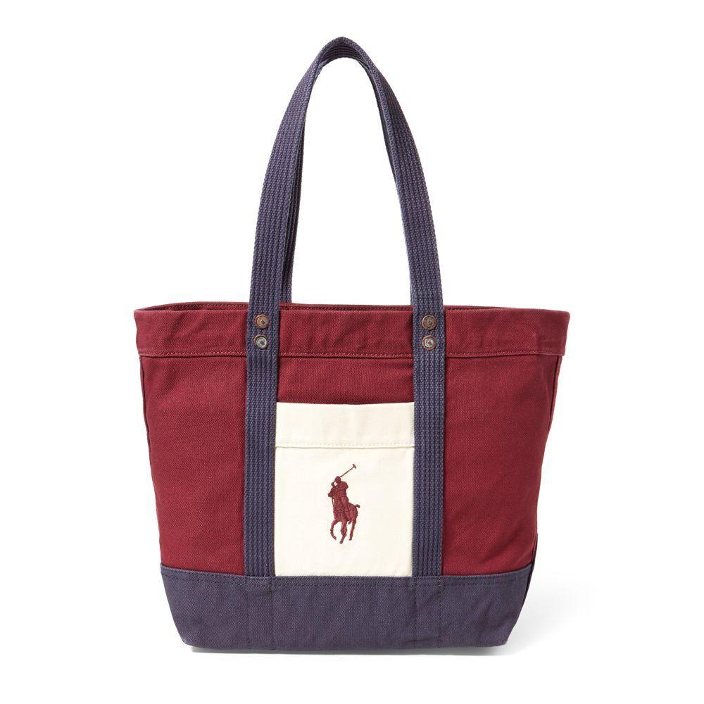 8d87830c53 RALPH LAUREN Polo Ralph Lauren Color-Blocked Big Pony Tote.  ralphlauren   bags