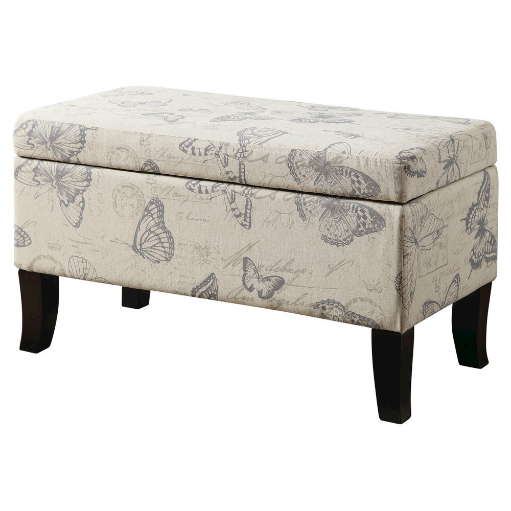 Winslow Butterfly Storage Ottoman - Convenience Concepts, Brown
