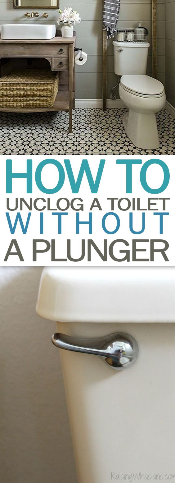 How to Unclog a Toilet WITHOUT a Plunger Days of Organization