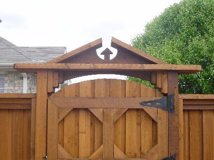 CEDAR FENCE GATE DESIGN | Decorative Fences | Fence and Gate Ideas ...