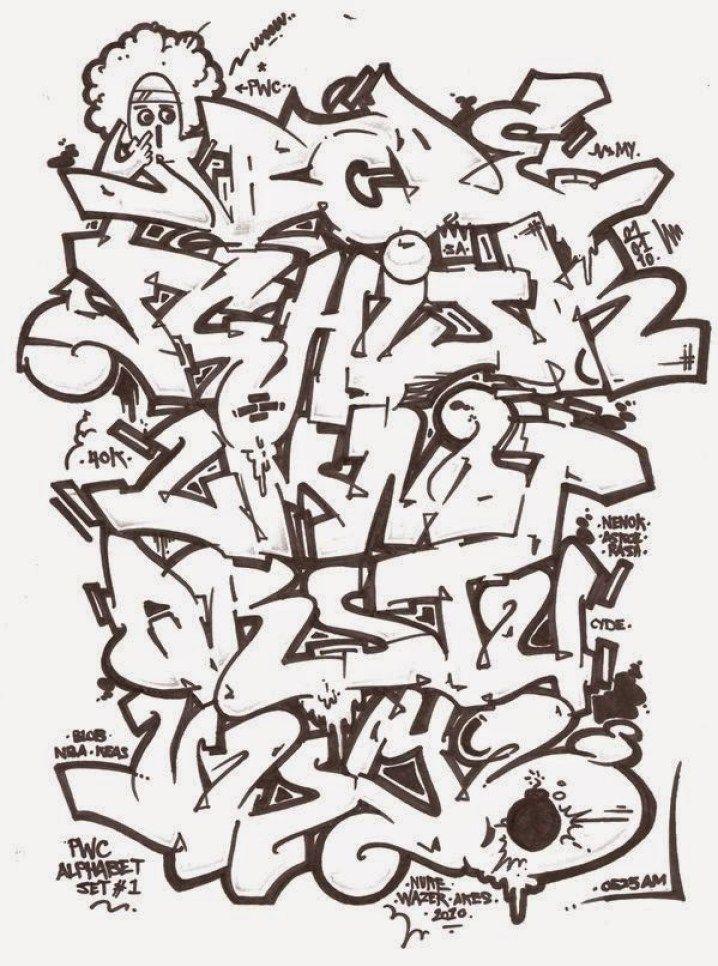 Foto Grafiti Nama : grafiti, Contoh, Grafiti, Huruf, Keren, Tahun, Alfabet, Huruf,, Graffiti,, Abjad