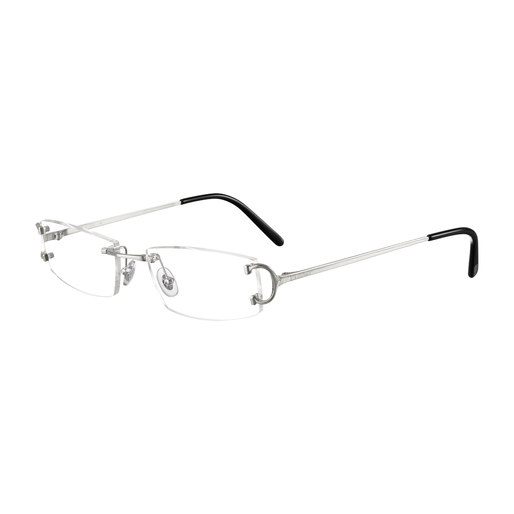 2a983bfd80d6 C Decor Classic - Platinum finish metal - Fine Prescription glasses for men  - Cartier Cool